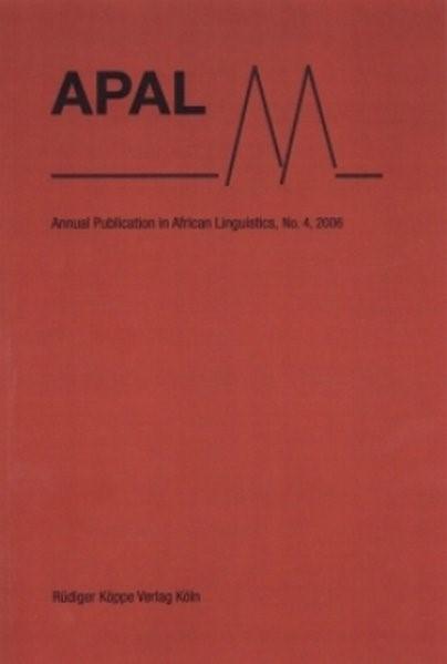 Abbildung von Brenzinger / Mietzner | APAL | 2007
