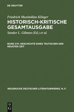 Abbildung von Gilman / Hartmann / Salumets | Geschichte eines Teutschen der neusten Zeit | 2007