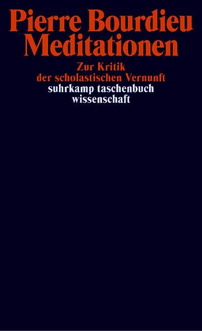 Meditationen   Bourdieu, 2010   Buch (Cover)