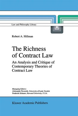Abbildung von Hillman | The Richness of Contract Law | 1996 | An Analysis and Critique of Co... | 28