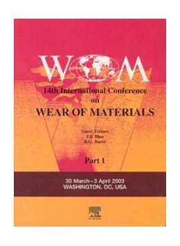 Abbildung von Blau / Bayer | Wear of Materials | 2003 | 14th International Conference