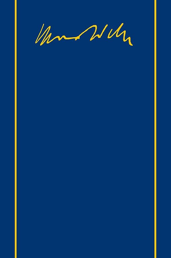 Abbildung von Schluchter / Weber | Max Weber-Gesamtausgabe | 2009