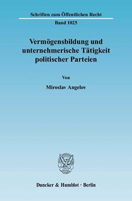 Abbildung von Angelov   Vermögensbildung und unternehmerische Tätigkeit politischer Parteien   2006   1025