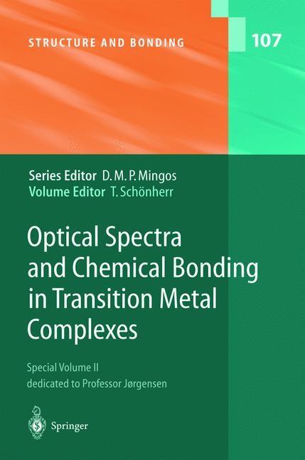 Abbildung von Schönherr | Optical Spectra and Chemical Bonding in Transition Metal Complexes | 2004