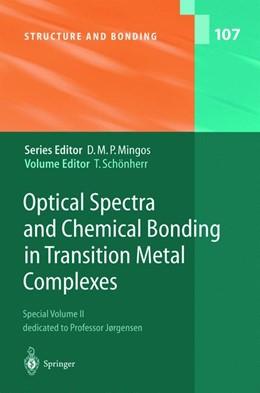 Abbildung von Schönherr | Optical Spectra and Chemical Bonding in Transition Metal Complexes | 2004 | Special Volume II, dedicated t... | 107