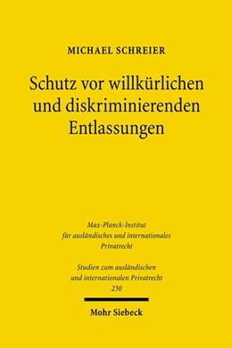 Abbildung von Schreier | Schutz vor willkürlichen und diskriminierenden Entlassungen | 2010 | Eine rechtsvergleichende Unter... | 230