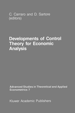 Abbildung von Carraro / Sartore   Developments of Control Theory for Economic Analysis   1987   7