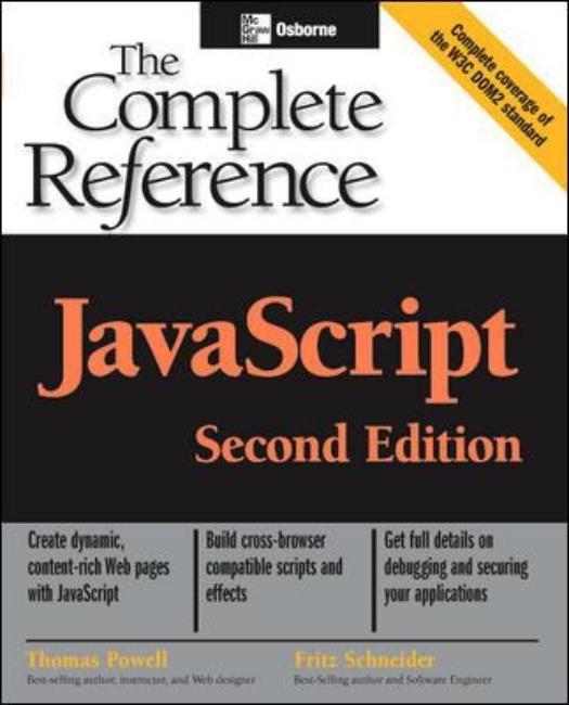 Abbildung von Powell / Schneider | JavaScript: The Complete Reference, 2nd edition | 2004