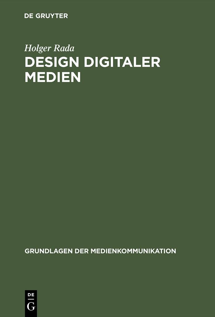 Abbildung von Rada   Design digitaler Medien   Reprint 2015   2002