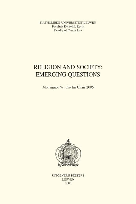 Abbildung von Religion and Society: Emerging Questions | 2005