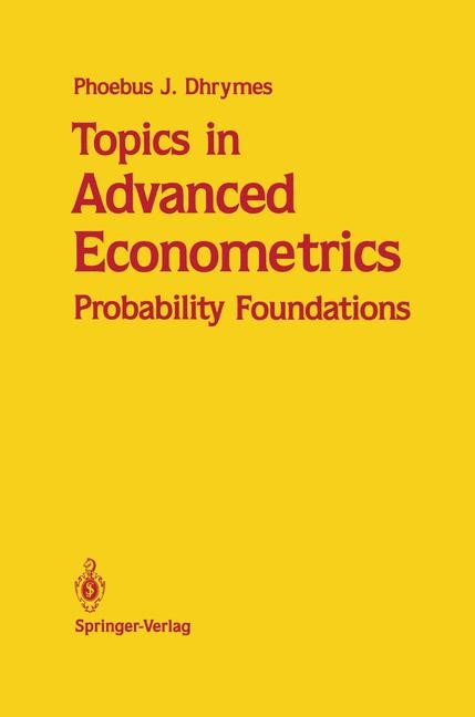 Abbildung von Dhrymes | Topics in Advanced Econometrics | 1989