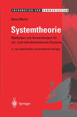 Abbildung von Marko | Systemtheorie | 3., neubearb. u. erw. Aufl. | 1995 | Methoden und Anwendungen für e...