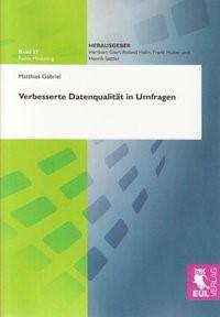 Abbildung von Gabriel | Verbesserte Datenqualität in Umfragen | 2008