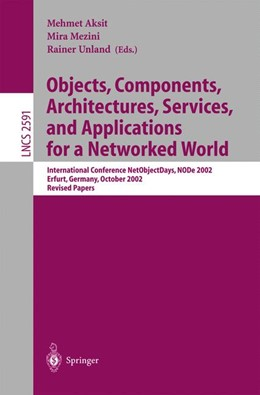 Abbildung von Aksit / Mezini / Unland | Objects, Components, Architectures, Services, and Applications for a Networked World | 2003