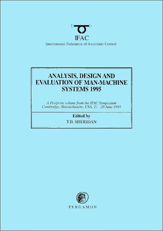 Abbildung von Sheridan | Analysis, Design and Evaluation of Man-Machine Systems 1995 | 1995