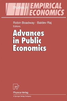 Abbildung von Boadway / Raj | Advances in Public Economics | 2000