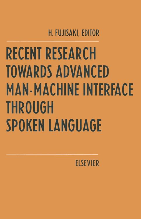 Abbildung von Fujisaki | Recent Research Towards Advanced Man-Machine Interface Through Spoken Language | 1996