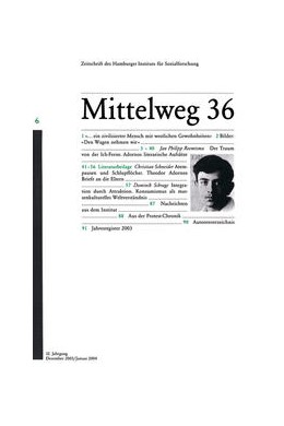 Abbildung von Adorno | 2003 | 6/2003