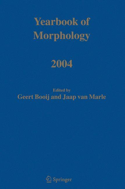 Yearbook of Morphology 2004 | Booij / van Marle, 2004 | Buch (Cover)
