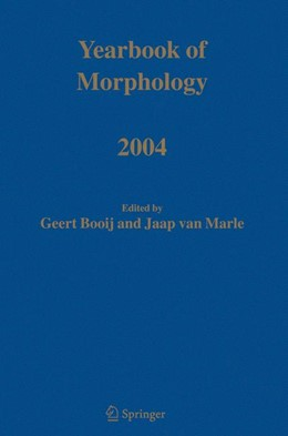 Abbildung von Booij / van Marle | Yearbook of Morphology 2004 | 2004