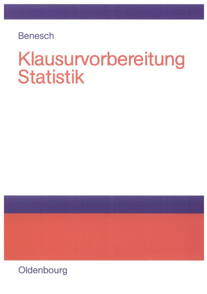 Abbildung von Benesch | Klausurvorbereitung Statistik | 2006