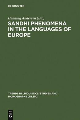 Abbildung von Andersen | Sandhi Phenomena in the Languages of Europe | 1986 | 1986 | 33