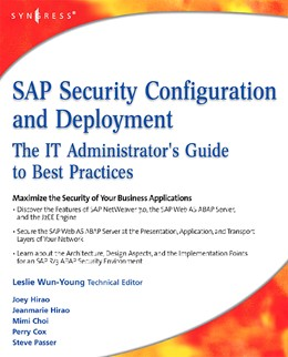 Abbildung von Hirao | SAP Security Configuration and Deployment | 2008 | The IT Administrator's Guide t...