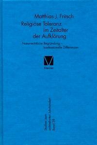 Abbildung von Fritsch   Religiöse Toleranz im Zeitalter der Aufklärung   2004
