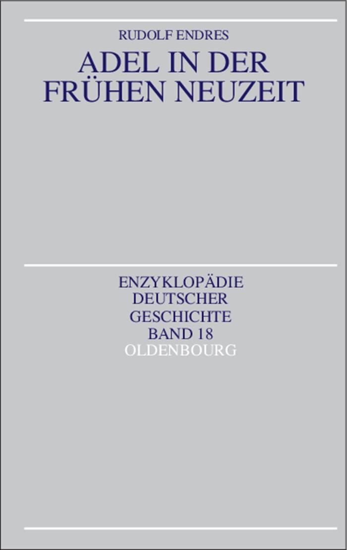 Abbildung von Endres | Adel in der Frühen Neuzeit | 1993