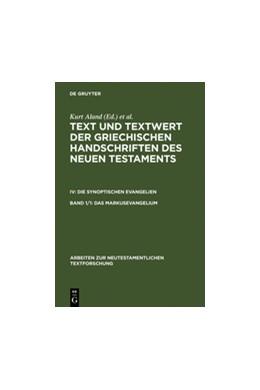 Abbildung von Aland   Das Markusevangelium   Reprint 2012   1998   Handschriftenliste und verglei...   26