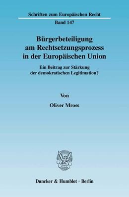Abbildung von Mross | Bürgerbeteiligung am Rechtsetzungsprozess in der Europäischen Union | 2010 | Ein Beitrag zur Stärkung der d... | 147