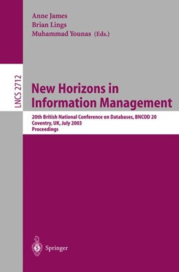 Abbildung von James / Lings / Younas | New Horizons in Information Management | 2003