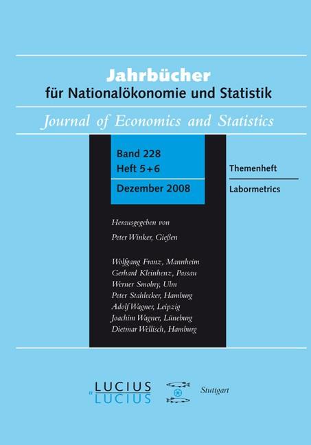 Abbildung von Bellmann / Franz / Gerlach / Hujer / Meyer / Wagner | Labormetrics | 2009