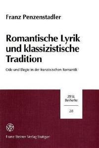 Abbildung von Penzenstadler | Romantische Lyrik und klassizistische Tradition | 2000