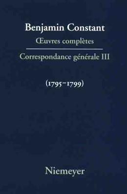 Abbildung von Correspondance 1795–1799 | Reprint 2017 | 2003