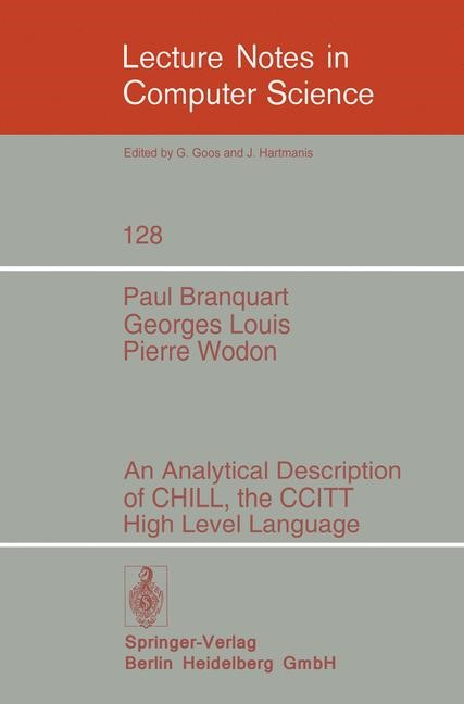 Abbildung von Branquart / Louis / Wodon | An Analytical Description of CHILL, the CCITT High Level Language | 1982