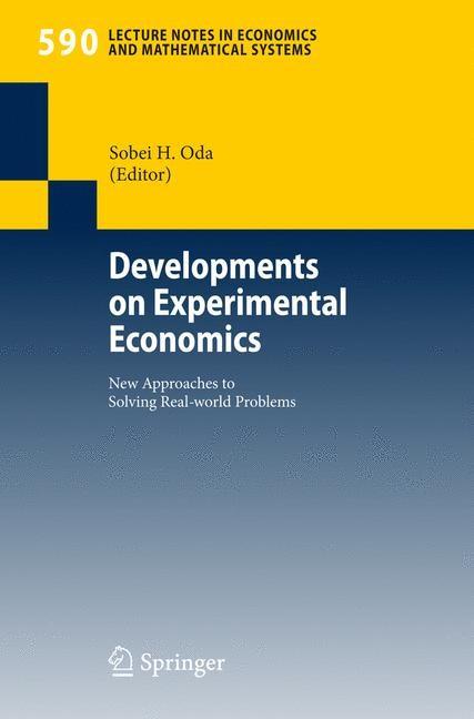 Abbildung von Oda | Developments on Experimental Economics | 2007