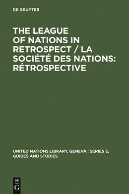Abbildung von The League of Nations in retrospect / La Société des Nations: rétrospective | 1983 | 1983 | Proceedings of the Symposium o... | 3