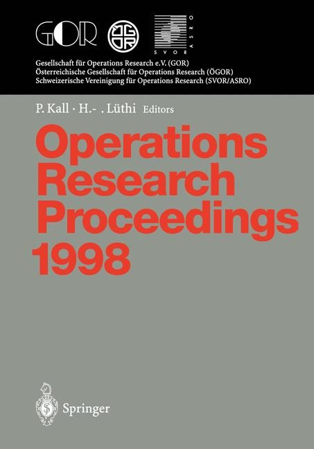 Operations Research Proceedings 1998 | Kall / Lüthi, 1999 | Buch (Cover)