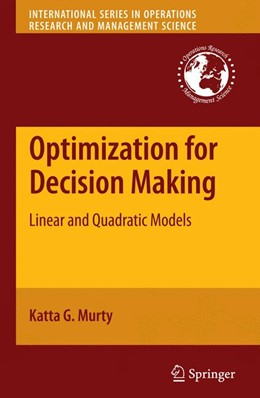 Abbildung von Murty | Optimization for Decision Making | 1st Edition. | 2009 | Linear and Quadratic Models | 137
