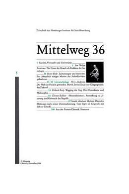Abbildung von Reemtsma / Bude / Anderson | Die Natur der Gewalt als Problem der Soziologie | 2006 | Herausgegeben von Hamburger In... | 5/2006