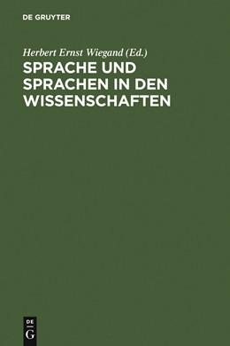 Abbildung von Wiegand | Sprache und Sprachen in den Wissenschaften | 1999 | Geschichte und Gegenwart. Fest...