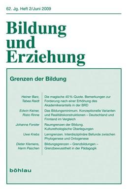 Abbildung von Miller-Kipp / Paschen   Bildung und Erziehung 0006-2456 / 62,2 (2009)   2009   Grenzen der Bildung