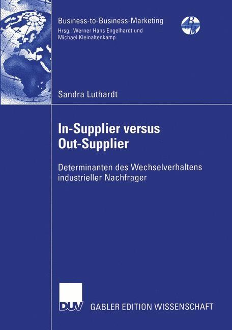 Abbildung von Luthardt | In-Supplier versus Out-Supplier | 2003