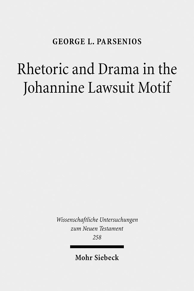 Abbildung von Parsenios | Rhetoric and Drama in the Johannine Lawsuit Motif | 2010