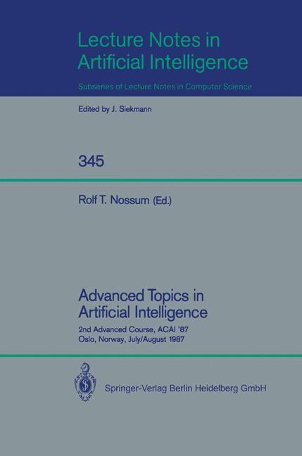 Abbildung von Nossum | Advanced Topics in Artificial Intelligence | 1988