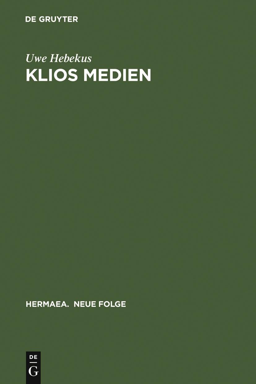 Abbildung von Hebekus | Klios Medien | 2003