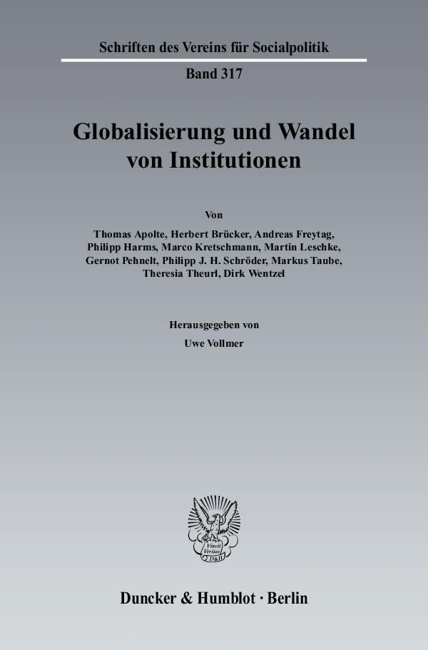 Abbildung von Vollmer   Globalisierung und Wandel von Institutionen.   2007