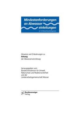 Abbildung von Mindestanforderungen an das Einleiten von Abwasser in Gewässer. Anhang 33
