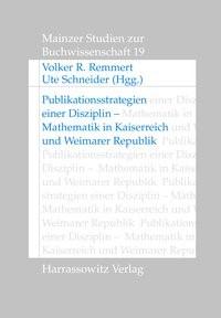 Abbildung von Remmert / Schneider | Publikationsstrategien einer Disziplin | 2008